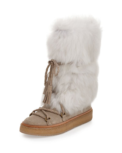 Frye Gail Shearling Fur Tall Boot