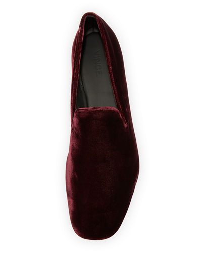 Bray Velvet Smoking Loafer, Oxblood