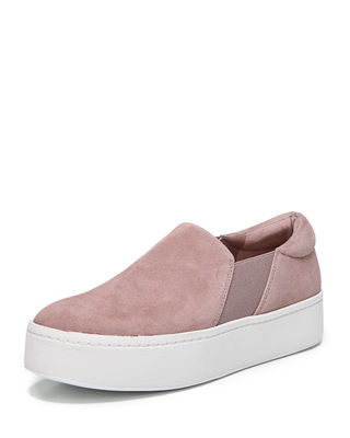 Women'S Warren Suede Platform Slip-On Sneakers, Hydrangea
