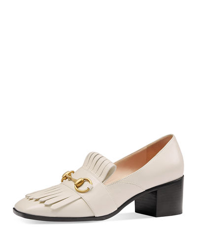 Gucci Polly Kiltie Leather 55mm Loafer