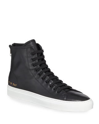 Common Projects Tournament Leather High-Top Sneaker
