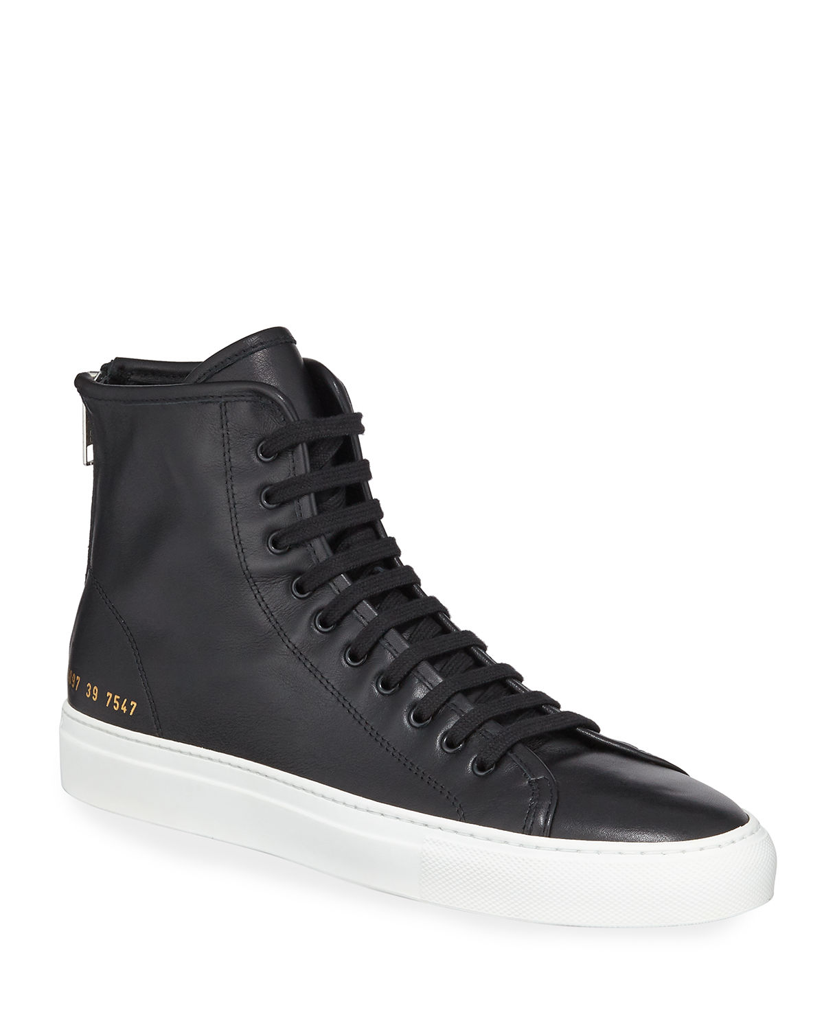 e6e17a86017d4 Common Projects Tournament Leather High-Top Sneakers