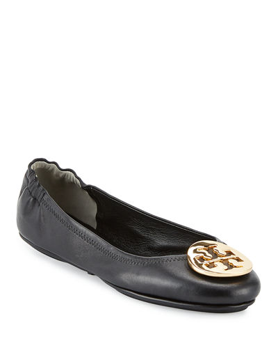 db5adedb2a6b Quick Look. Tory Burch · Minnie Travel Logo Ballet Flats. Available in Black  ...
