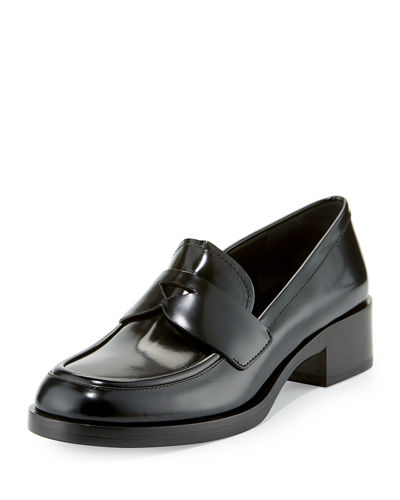 Outlet Pictures Really Prada Brushed leather loafers Clearance Low Shipping Fee hd0x7