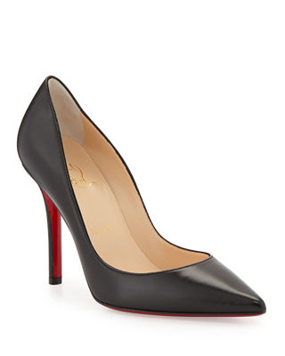 christian louboutin apostrophy pointed red sole pump neiman marcus rh neimanmarcus com