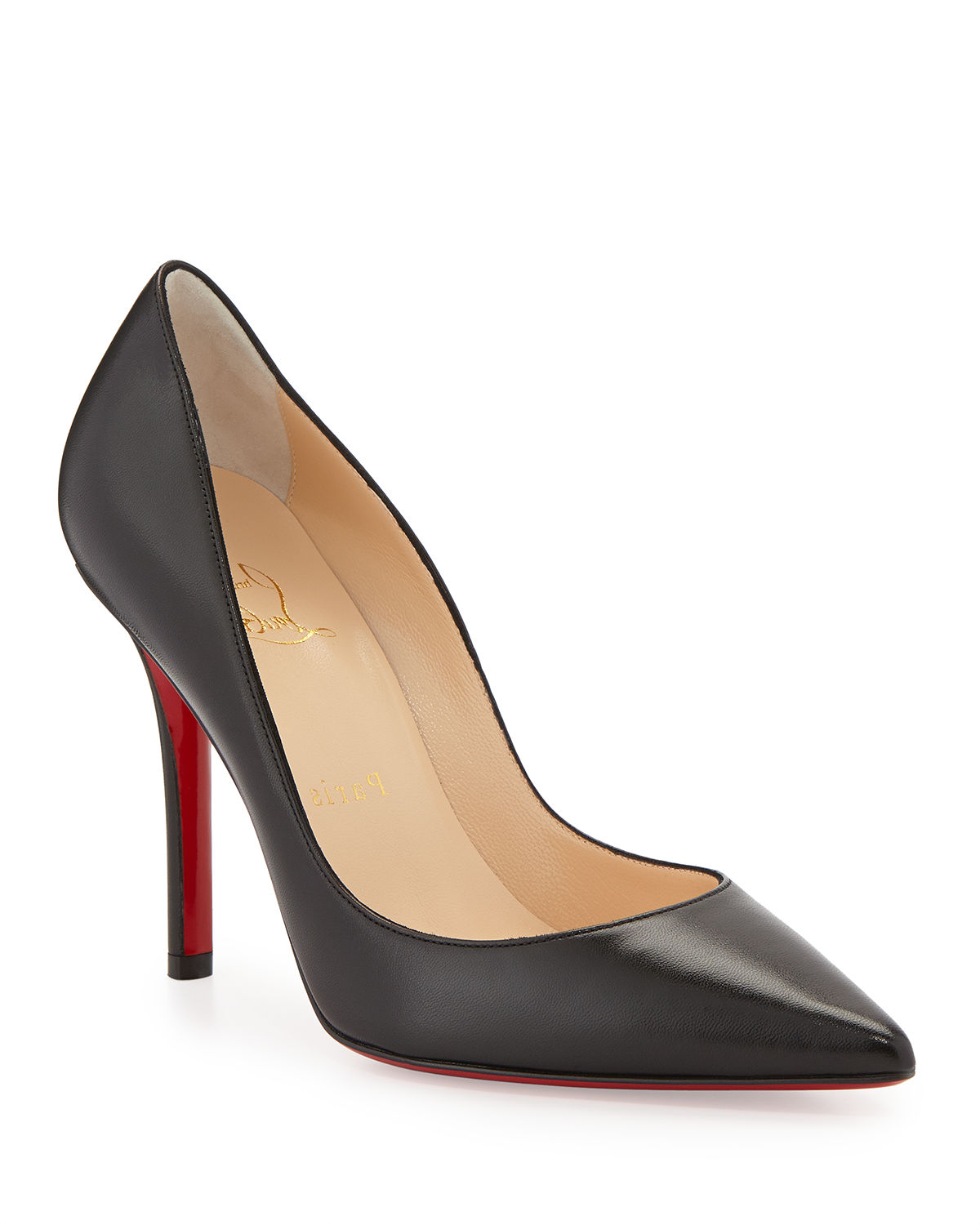Christian Louboutin Apostrophy Pointed Red-Sole Pump  593aeb362