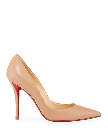 Image 2 of 4: Christian Louboutin Apostrophy Pointed Red-Sole Pump