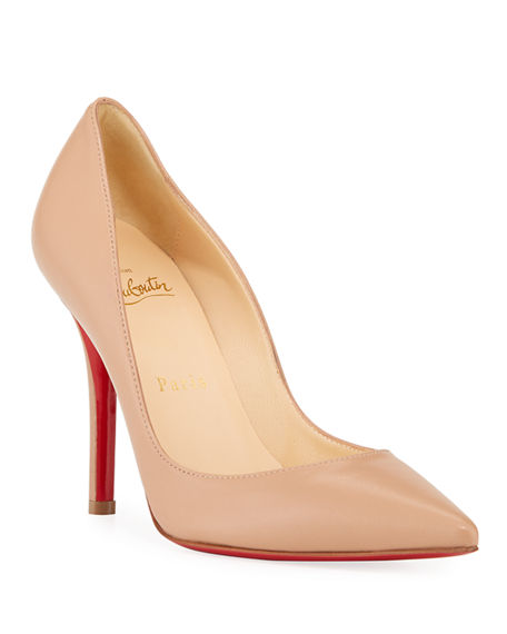 Image 1 of 4: Christian Louboutin Apostrophy Pointed Red-Sole Pump