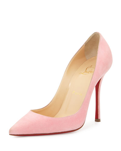 Christian Louboutin Suedes DECOLTISH SUEDE 100MM RED SOLE PUMP