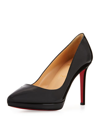 Image 1 of 3: Pigalle Plato Patent Red Sole Pump