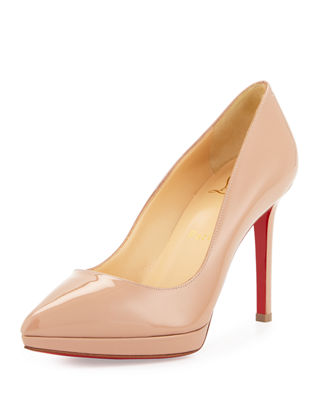Pigalle Plato Patent Red Sole Pump