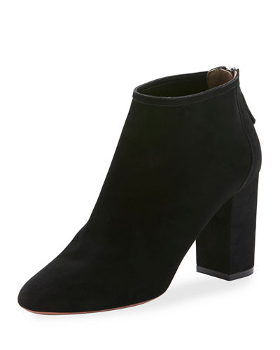 Aquazzura Downtown Suede 85mm Bootie