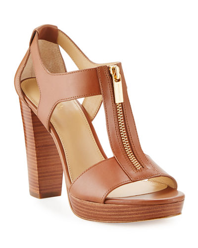 Berkley Leather Zip Sandals