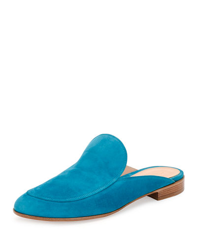 Gianvito Rossi Palau Notched Suede Mule