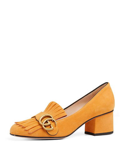 Gucci Marmont Fringe Suede 55mm Loafer