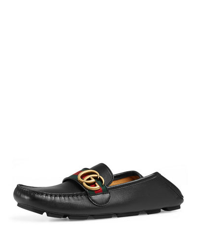 Gucci Noel Leather Web Loafer