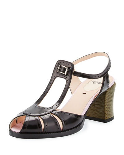 Fendi Chameleon Leather 70mm Sandal