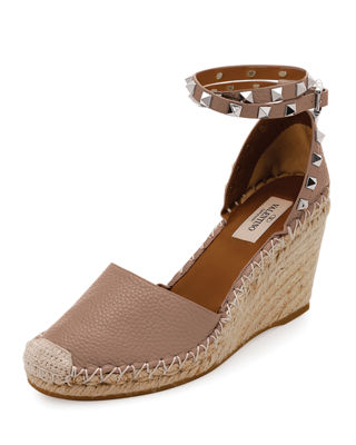 Rockstud Double Espadrille Wedge Pump