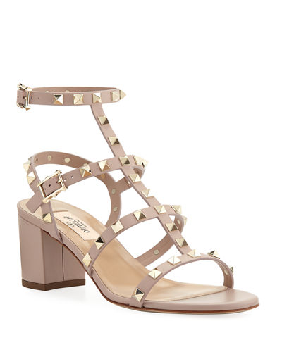 Rockstud Leather 60mm City Sandals