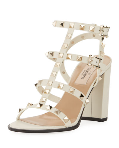 Valentino Garavani Rockstud Leather 90mm City Sandal