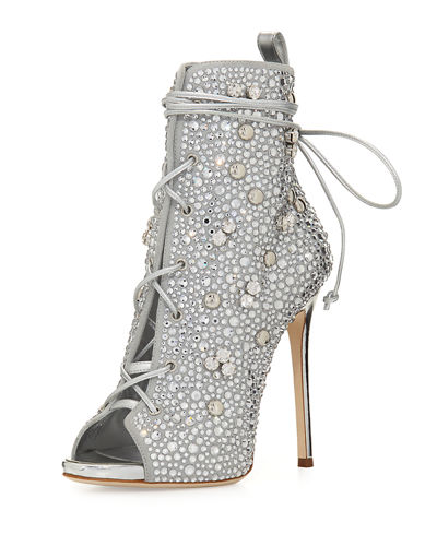 Lynda Crystal Open-Toe 120mm Bootie