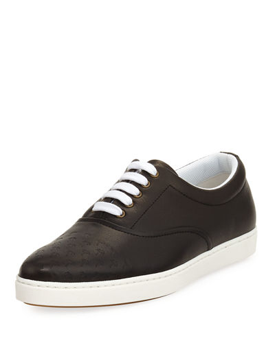 Tomas Maier MALIBU PALMS LEATHER LOW-TOP SNEAKER