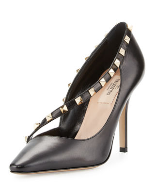 Valentino Garavani Rockstud Cross-Strap 100mm Pump