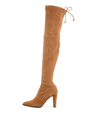 Image 2 of 4: Highstreet Suede Over-the-Knee Boot