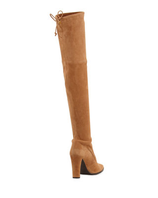Image 4 of 4: Highstreet Suede Over-the-Knee Boot