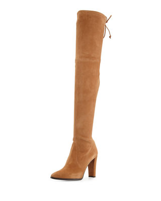 Image 1 of 4: Highstreet Suede Over-the-Knee Boot