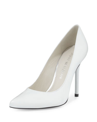 Nouveau Metallic Pointed-Toe Pump