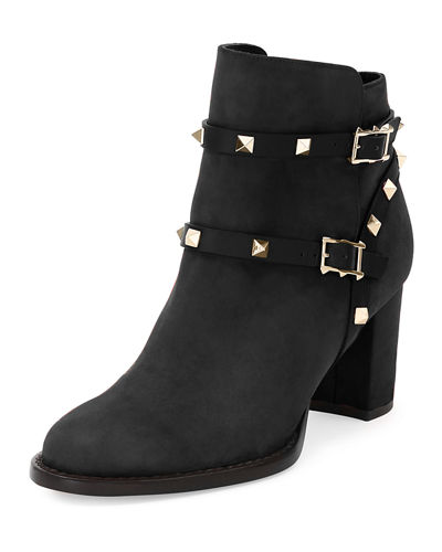 Valentino Suede Rockstud Booties Top Quality Cheap Online gyXWg0pVU