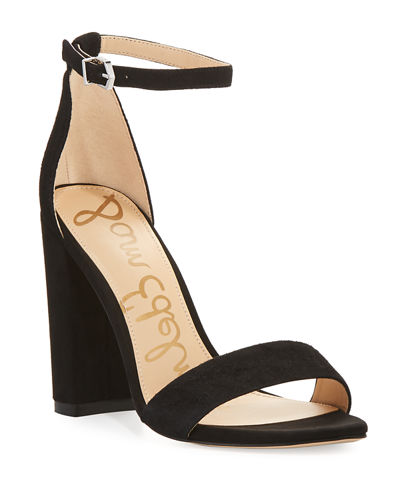 Yaro Suede Block-Heel Sandals