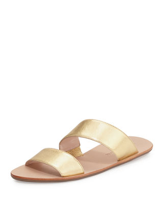 Clem Flat Leather Slide Sandal