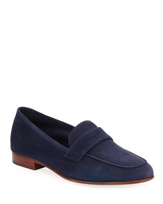 Image 1 of 4: Classic Flat Suede Loafer