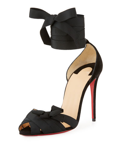 Christeriva Lace-Up 100mm Red Sole Sandal