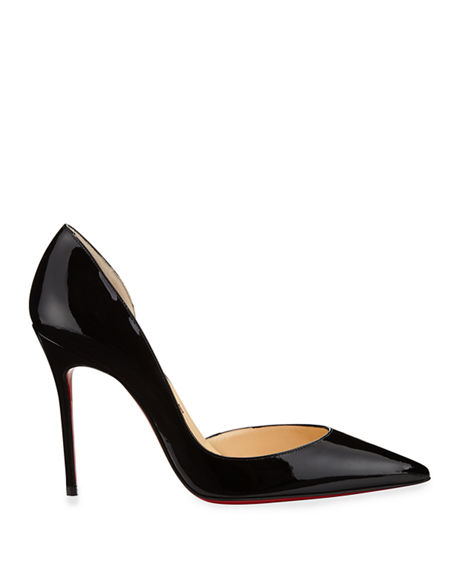 Image 2 of 3: Iriza Patent Open-Side Red Sole Pump