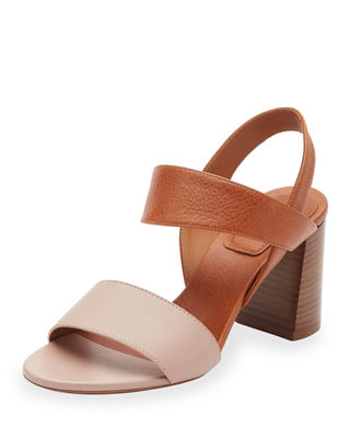 Mia Colorblock Leather 70mm Sandal