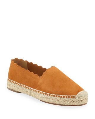 Chloe Lauren Scalloped Espadrille Flat