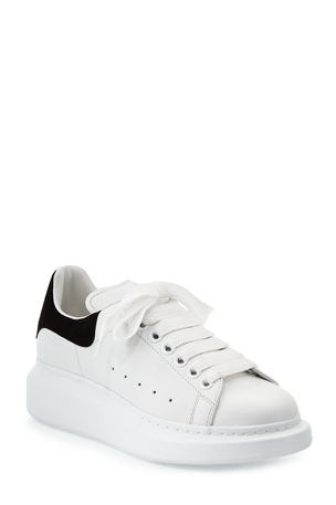 Alexander McQueen Leather Lace-Up Platform Sneakers