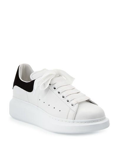 Leather Lace-Up Platform Sneakers