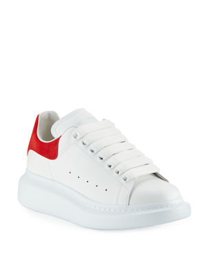 buy online 4c404 c3514 Alexander McQueen Leather Lace-Up Platform Sneakers