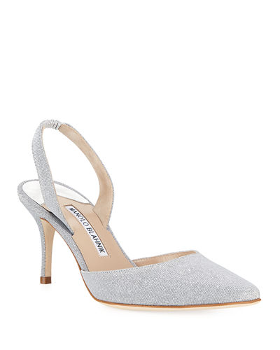 Carolyne Textured Slingback 70mm Pump