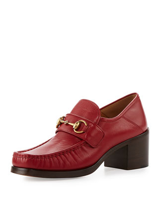 WOMEN'S VEGAS LEATHER MID HEEL LOAFERS
