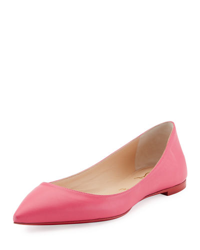Ballalla Smooth Leather Red Sole Ballerina Flat