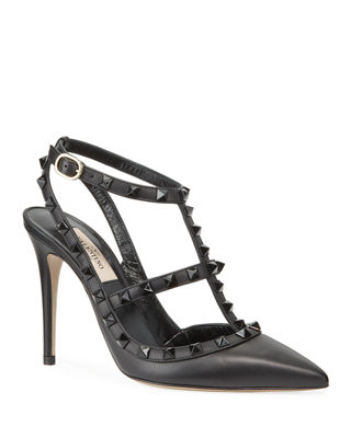 Image 1 of 3: Rockstud Leather 100mm Pump