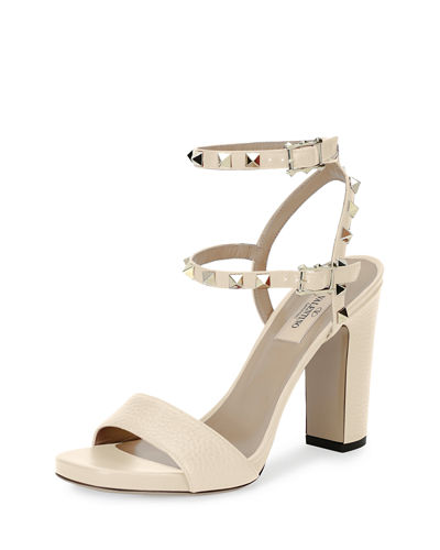 Rockstud 100mm Chunky-Heel Sandals