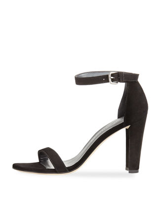 Image 3 of 5: Walkway 90mm Suede Ankle-Wrap Sandal