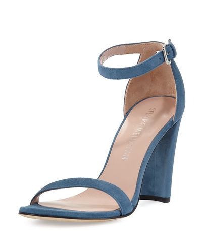 Walkway 90mm Suede Ankle-Wrap Sandal