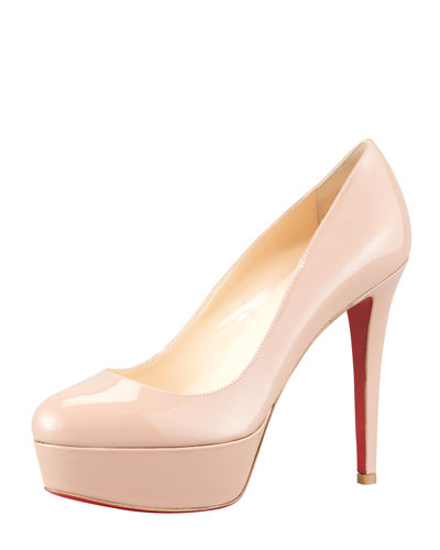 Bianca Patent Leather Platform Red Sole Pump